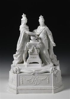 """""""The Royal Altar"""" allegorical group commemorating the coronation of Louis XVI and Marie-Antoinette, 1775, Sèvres biscuit porcelain, 42 cm (Versailles)"""