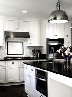 Black and White: 45+ Sensational kitchens to inspire | Pinterest ...