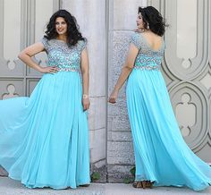 Wholesale Plus Size Special Occasion Dresses - Buy New Arrival 2014 Elegant Plus Size Formal Dresses Bateau Beads Crystal Chiffon Backless Capped Evening Gowns Prom Dress Pageant Dress Custom, $107.31 | DHgate