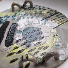 Emily Parr A little Dishy- through all weathers #platters #clay #incise #ceramics