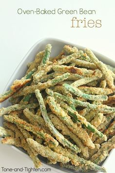 Oven-Baked Green Bean Fries on Tone-and-Tighten.com