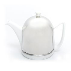 THÉIÈRE ISOTHERME CLASSIQUE - This classic isotherm teapot keeps tea warm twice as long as normal tea, with its bell in stainless steel lined with felt.