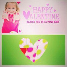 バレンタイン気分がだんだんと盛り上がってきました。 私のハートあなたに届け~!      ~Agatha ruiz de la pradaで人生に幸せを呼び込もう~