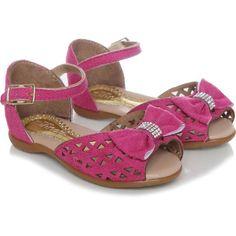 Sandália Infantil Kilinda Laço Laser Pink