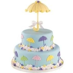 It's raining babies! How sweet is this umbrella baby shower cake! Baby Cakes, Baby Shower Cakes, Baby Shower Parties, Cupcake Cakes, Shower Baby, Bridal Shower, Pretty Cakes, Cute Cakes, Beautiful Cakes