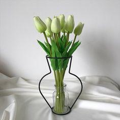 Creative vase with flowers