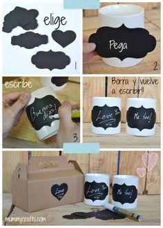 Tazas personalizadas para pintar el mensaje que quieras