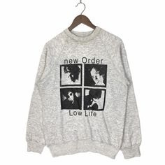 Very Rare ! Vintage New Order Low Life Promo US Tour 1986 Sweatshirt Haçienda New Order US Tour Promo by ClockworkThriftStore on Etsy Vintage Band Tees, Vintage Shirts, Vintage Tops, Vintage Outfits, Low Life, Personalized T Shirts, Casual Elegance, Vintage Nike, Custom T