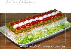 La cocina de Loli Domínguez: Pastel salado de verano o pastel frio…