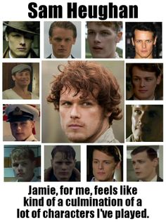 Sam Heughan on Jamie Fraser https://www.facebook.com/OutlanderJamieFans