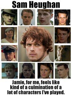 Sam Heughan on Jamie Fraser https://www.facebook.com/OutlanderJamieFans