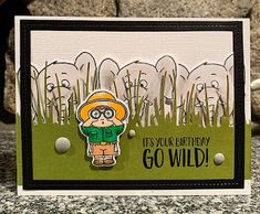 Scrap Shotz Snap Shotz: Go Wild! by Gerda Steiner Designs It's Your Birthday, Birthday Cards, Paper Art, Paper Crafts, Mama Elephant, The Day Will Come, Animal Cards, Card Kit, My Stamp