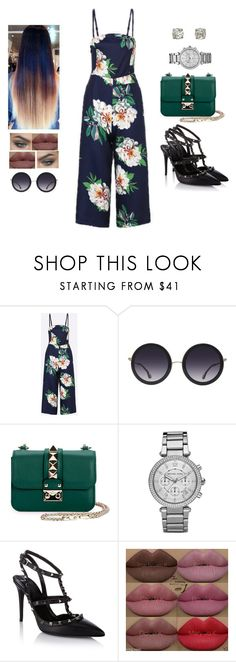 """""""'cause darling I'm a nightmare dressed like a daydream"""" by muppets-cookie-monster ❤ liked on Polyvore featuring Alice + Olivia, Valentino, Too Faced Cosmetics, Michael Kors, Kylie Cosmetics and longesttitlever"""