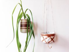 Ceramic Pottery Planter - hanging planter, wall vase by ethanollie on Etsy https://www.etsy.com/listing/213209946/ceramic-pottery-planter-hanging-planter