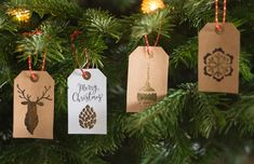 Free Printable & DIY - Etiquettes de Noël Merry Christmas, Christmas Gifts, Christmas Ornaments, Home And Deco, Burlap, Holiday Decor, Boxes, Tags, Free