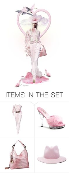 """""""Blonde Doll In Pink 💕"""" by ragnh-mjos ❤ liked on Polyvore featuring art"""