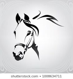 Silhouette Girl, Tattoo Caballo, Horse Stencil, Horse Tattoo Design, Pencil Drawings Of Flowers, Native American Decor, Horse Logo, Owl Cartoon, Horse Drawings