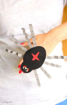 Spider Paper Hand Puppet Template Craft for Kids