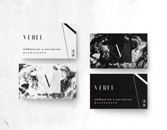 Verel Premade Minimalist Granite Marble Business Card by DESNOIR