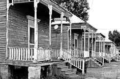 Old row houses in downtown Donaldsonville, Louisiana. See more at http://crawfordoutdoors.com/miscellaneous.