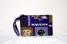 NEW  NFL Baltimore Ravens Wristlet in New by sheliawinstead, $8.75