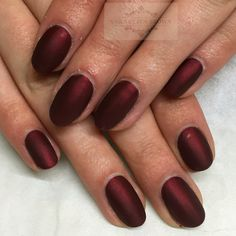 CND shellac vampy matte oxblood nails