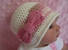A cute bow hat (after I learn how to crochet!)
