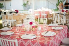 I like that the tablecloth is fairly simple but still nice enough to do all the work