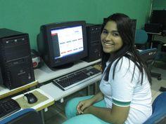 Larissa utiliza a plataforma diariamente (Foto: Moiséis Rodrigues/Arquivo pessoal)