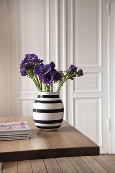 Kähler Design Omaggio Vase schwarz, 20 cm