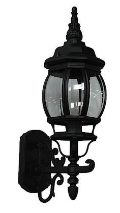 """Artcraft Lighting AC8090BK Classico Small European Style Outdoor Wall Mount, Black by Artcraft Lighting. $48.88. From the Manufacturer                Classico small outdoor wall mount, European styled lantern-up with clear glassware and in black finish. For over 50 years, ARTCRAFT has earned a reputation for excellence in home lighting products that is the envy of many companies in North America. ARTCRAFT is a """"family"""" owned business with many talented and skilled individuals,..."""