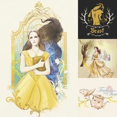Tale as old as time.   Loving these Beauty and the Beast illustrations