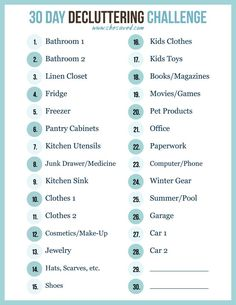 Print out my FREE 30 Day decluttering challenge printable to help you get a jump start on organizing and spring cleaning! We can do this! #decluttermyhouse