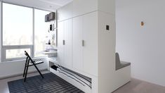 IKEA ROGNAN Robotic Furniture created in collaboration with Ori Living is tailormade space saving solution for small apartments. Furniture, Tiny Spaces, Ikea New, Small Spaces, Ikea Storage Solutions, Transforming Furniture, Furniture For Small Spaces, Space Saving Furniture, Ikea Furniture