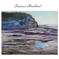 Swansea Headland  Listed Artist Beach Oil Painting Seascape Artwork by Gercken