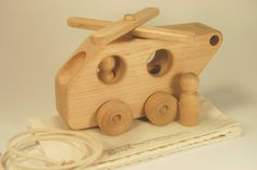 Wood Toy Helicopter  Personalized and Organic by treewoodworks, $30.00