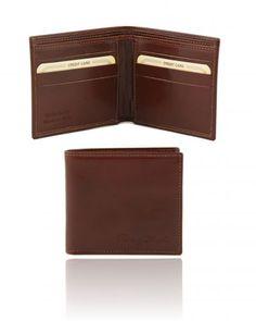 TL140797 Exclusive 2 fold leather wallet for men - Esclusivo portafoglio uomo in pelle 2 ante