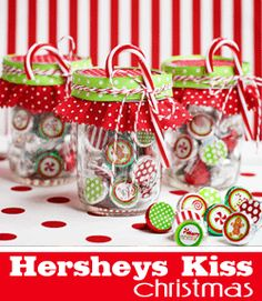 free kiss printables! fun neighbor/work gift!
