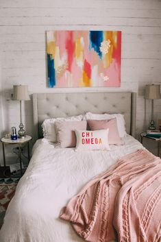 The Beverly, Paint Ideas, Canvas, Bed, Painting, Furniture, Color, Home Decor, Tela