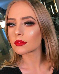 Vanessa Cruz by Gabriele Monte, via Behance White eyelashes makeup - Schwarz Augen Glam Makeup, Red Lips Makeup Look, Beauty Makeup, Eye Makeup, Hair Makeup, Makeup Style, Beauty Style, Makeup Trends, Makeup Inspo