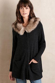 Heathered Slate Sweater Coat - anthropologie.com