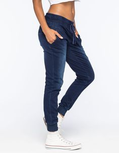 CELEBRITY PINK Womens Denim Jogger Pants.. well these look awesomely comfortable.