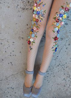 Embellished Fishnet Tights Are Here And It Will Make You Feel Like A Mermaid Caught In A Net