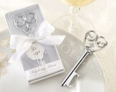 Simply Elegant Key To My Heart Bottle Opener Wedding Favors and Kate Aspen Favors at Elegant Gift Gallery your source for wedding favors and bridal shower favors. Wedding Favors And Gifts, Wedding Tokens, Elegant Wedding Favors, Wedding Shower Favors, Wedding Card, Wedding Souvenir, Wedding Reception, Wedding Bottles, Bridal Gifts