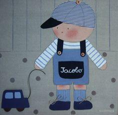Cuadro infantil personalizado con el nombre de tu hijo y con los colores que mejor coordinan con su habitación