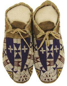 Arapaho Beaded Moccasins (Native American)
