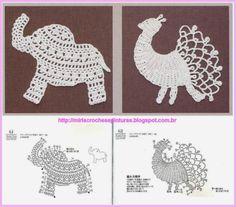 MIRIA CROCHÊS E PINTURAS: APLIQUES DE CROCHÊ MIRIA crochets and paintings: appliques CROCHÊ