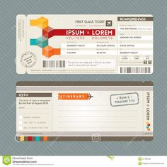 Airline Ticket Template Word Custom Modern Boarding Pass Ticket Wedding Invitation Graphic Design Vector .