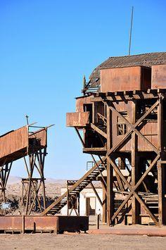 Santa Laura, 19th century saltpeter works in the Atacama desert, Iquique, Chile ~ UNESCO World Heritage Site