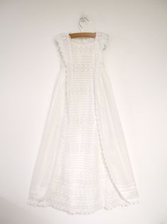 1800's Handmade Victorian White Lace Christening Gown. $398.00, via Etsy.